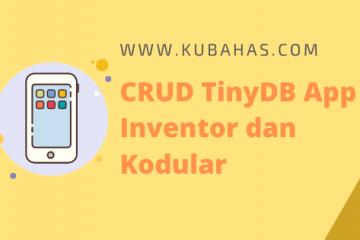 CRUD TinyDB App Inventor, Kodular