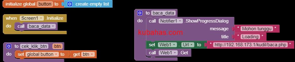 Kode program membaca data