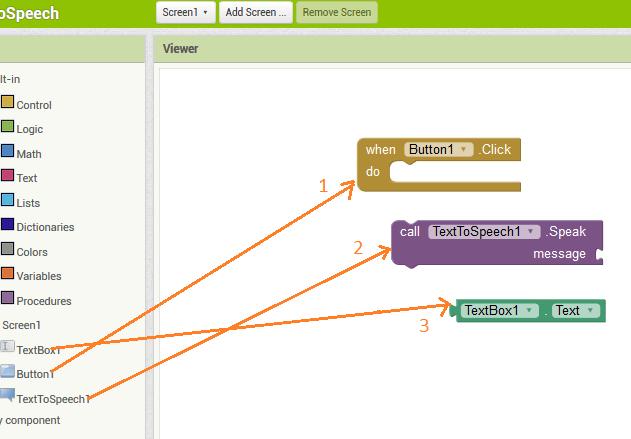 cara membuat program dan mecari fungsi program di setiap komponen App Inventor