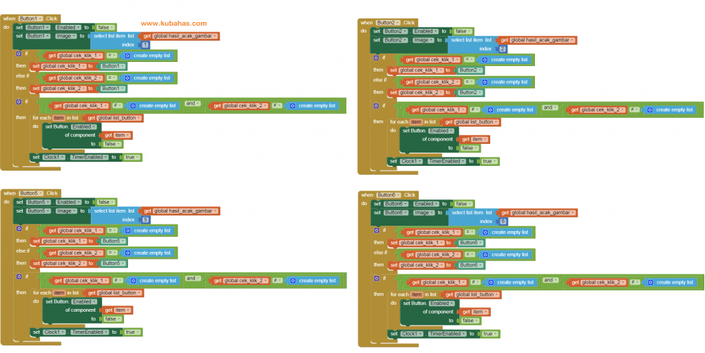 kode program button game 1