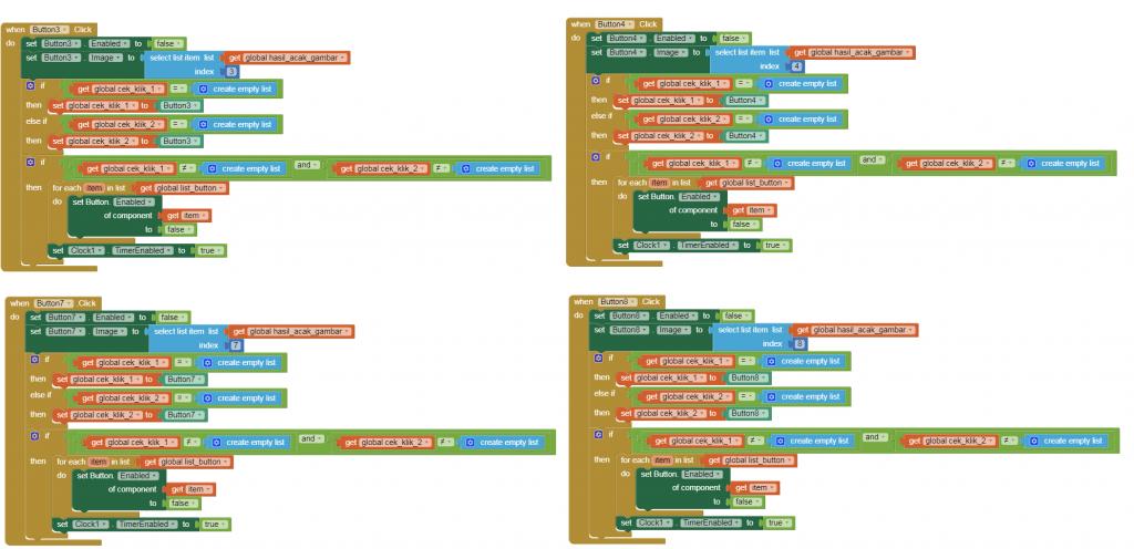kode program button game 2
