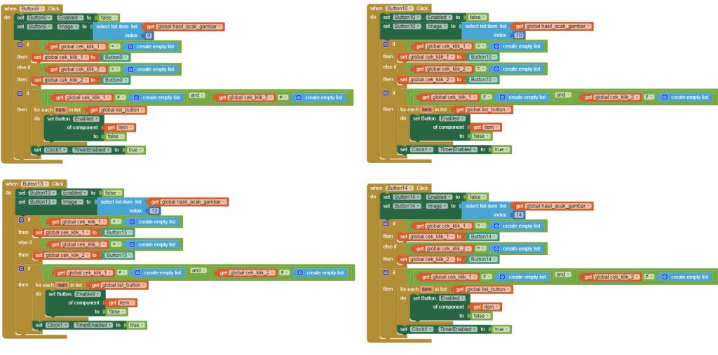kode program button game 3