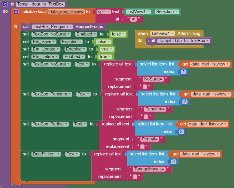 kode program menampilkan data crud ke textbox
