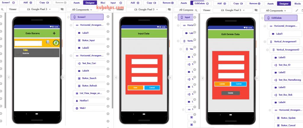 Desain aplikasi simpan data ke google spreadsheet