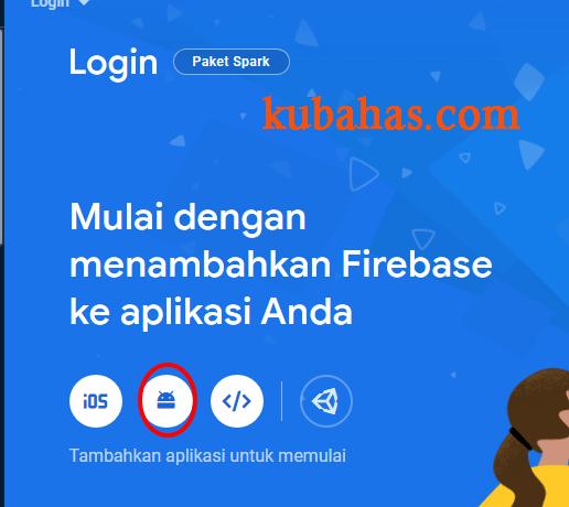 Halaman dashboard firebase console