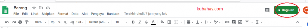 membagikan google spreadsheet