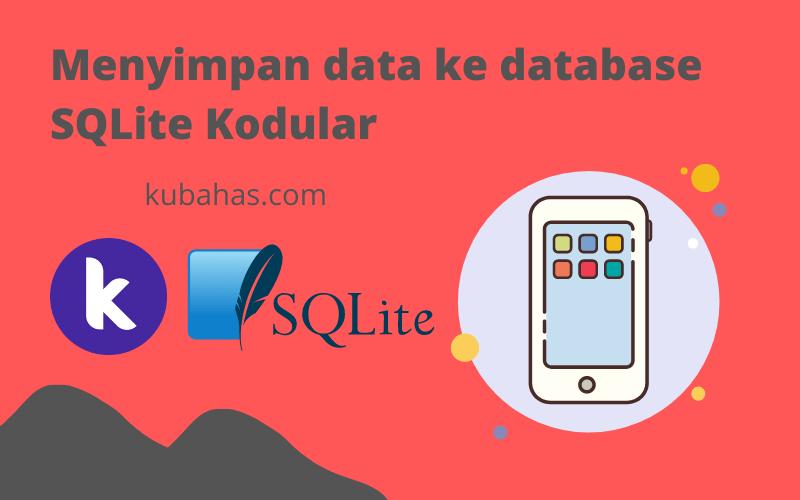 Menyimpan data ke database SQLite Kodular