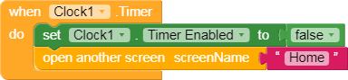Blok program splash screen aplikasi quiz kodular app inventor