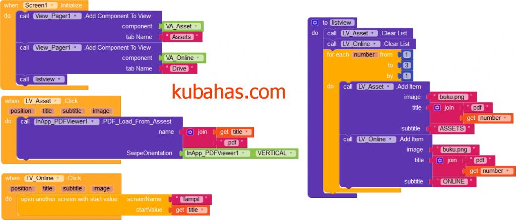 blok program menampilkan file pdf dari assets kodular