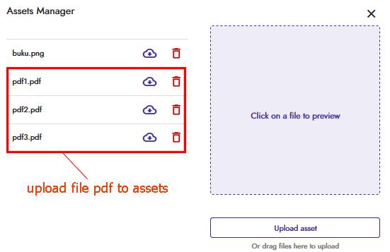 upload file pdf ke asset kodular