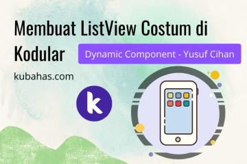 Membuat listview costum di kodular