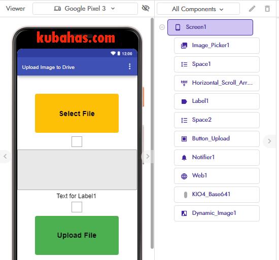 desain aplikasi upload gambar ke GD