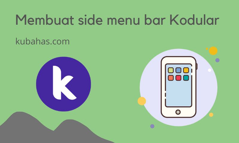 Membuat side menu bar di Kodular