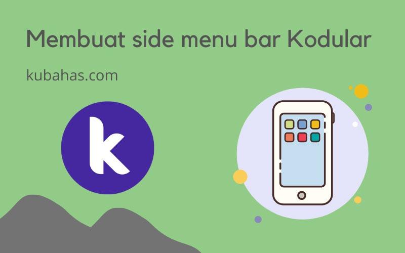 Membuat side menu bar di Kodular