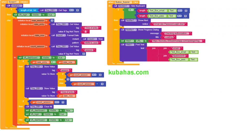 block progam auto login dengan batasan waktu session