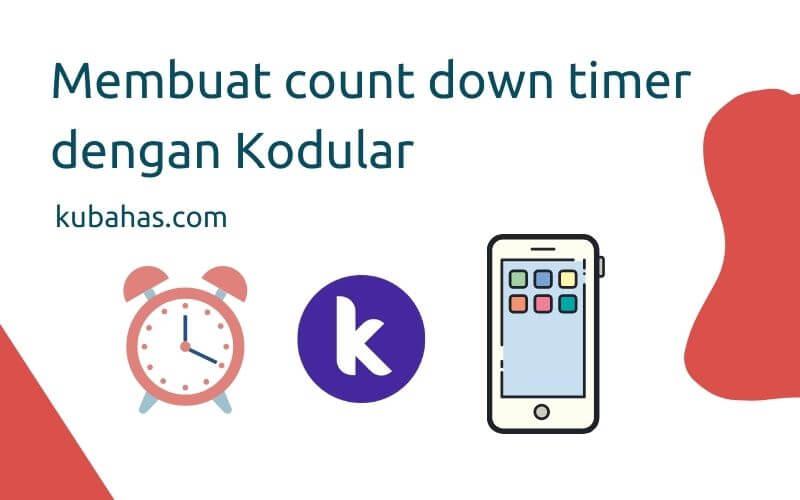 Membuat count down timer dengan kodular
