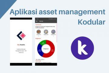Aplikasi asset management Kodular